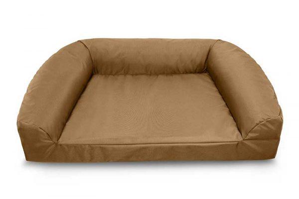 Ballistic brown Titan Defender Plush Bolster dog bed