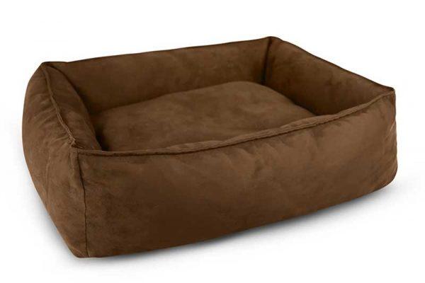 Dark chocolate oasis dog bed with ridges