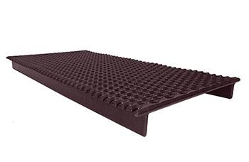 Brown raised tub floor grate